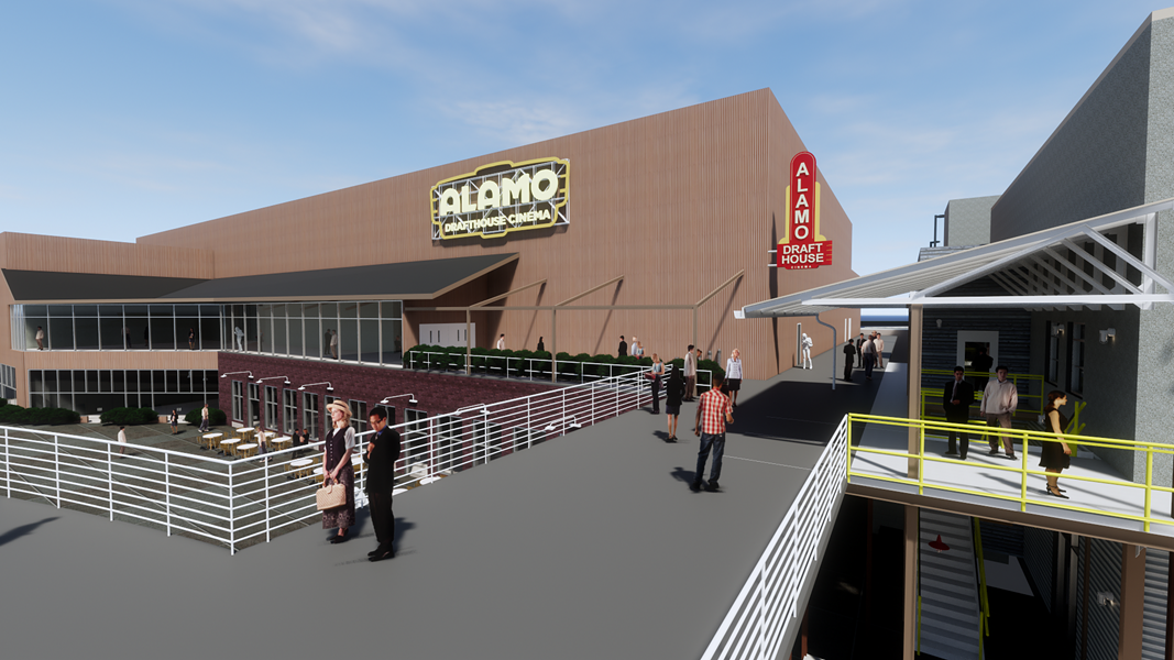 Artist's rendering of the upcoming St. Louis outpost of Alamo Drafthouse Cinema. - COURTESY OF THE LAWRENCE GROUP
