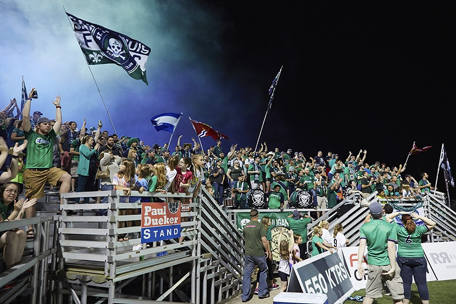 How better to be a fan than to cheer on STL FC? - JASON PATRYLO​