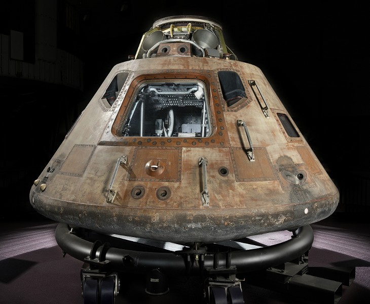 The outside of the Apollo command module - PHOTO COURTESY OF THE ST. LOUIS SCIENCE CENTER