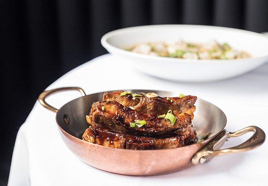 Mahogany-glazed spare ribs. - MABEL SUEN