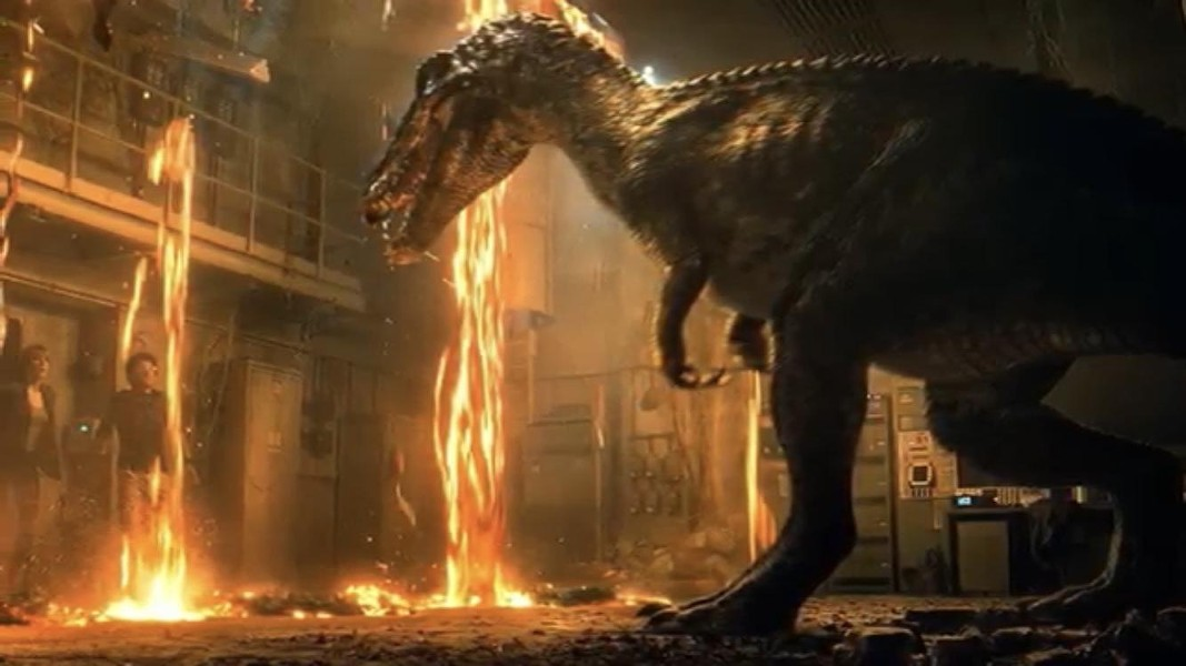 This is why you shouldn't let your dinosaur play with matches. - (C) UNIVERSAL PICTURES 2018