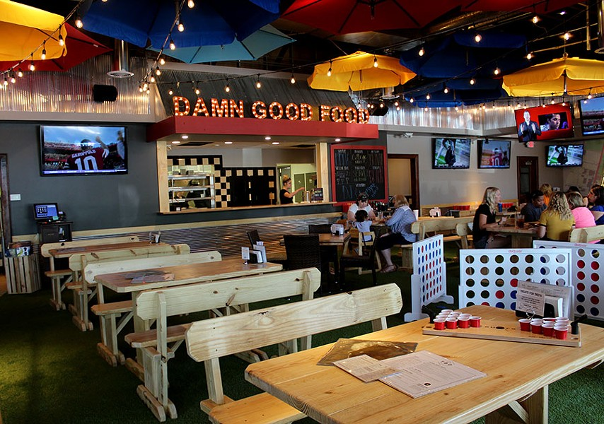 "The restaurant's motto hangs above the kitchen: ""damn good food,"" - LEXIE MILLER"