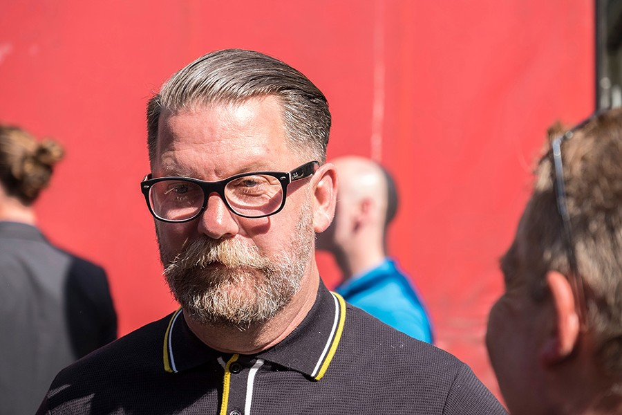 "Proud Boys founder Gavin McInnes devised the group's distinctive look (the shirts) and jargon (""Western chauvinism""). - SHUTTERSTOCK"