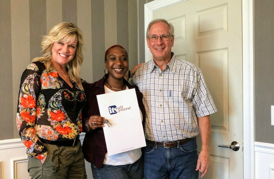 Jamaa's real estate agent, Holly Gerchen (left), donated her time and secured discounts on closing costs. Dr. Donald Blum is one-half of the group that gave Jamaa a massive discount on its building. - COURTESY OF BRITTANY KELLMAN