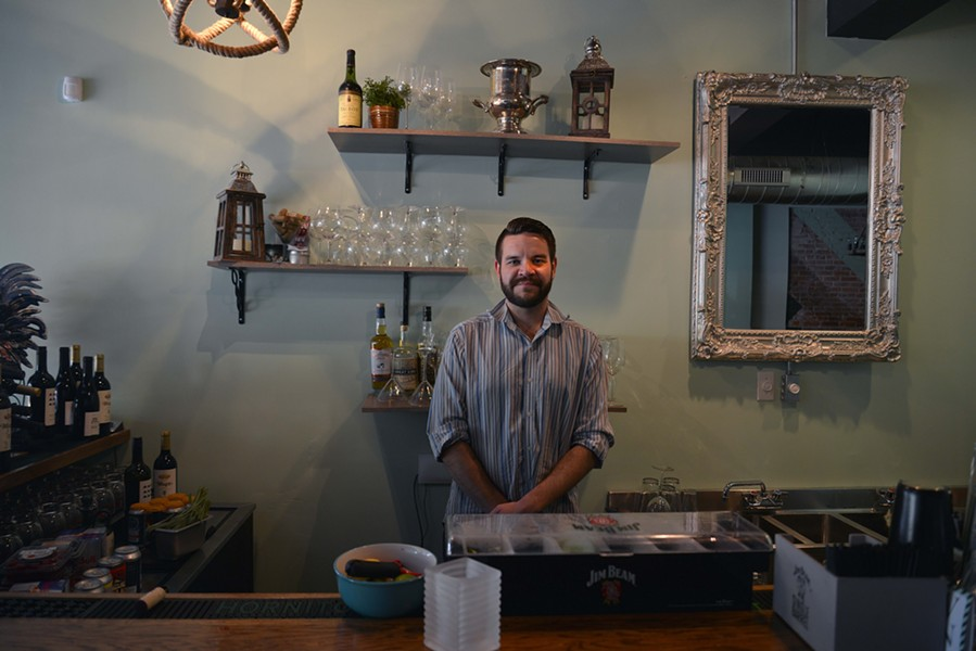 Tim Chalcraft has worked as a server and bartender and is now helping to create an expansive drink menu. - TOM HELLAUER