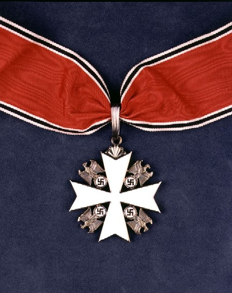 Service Cross of the German Eagle. Presented to Charles A. Lindbergh by Hermann Goering, 1938. - MISSOURI HISTORY MUSEUM