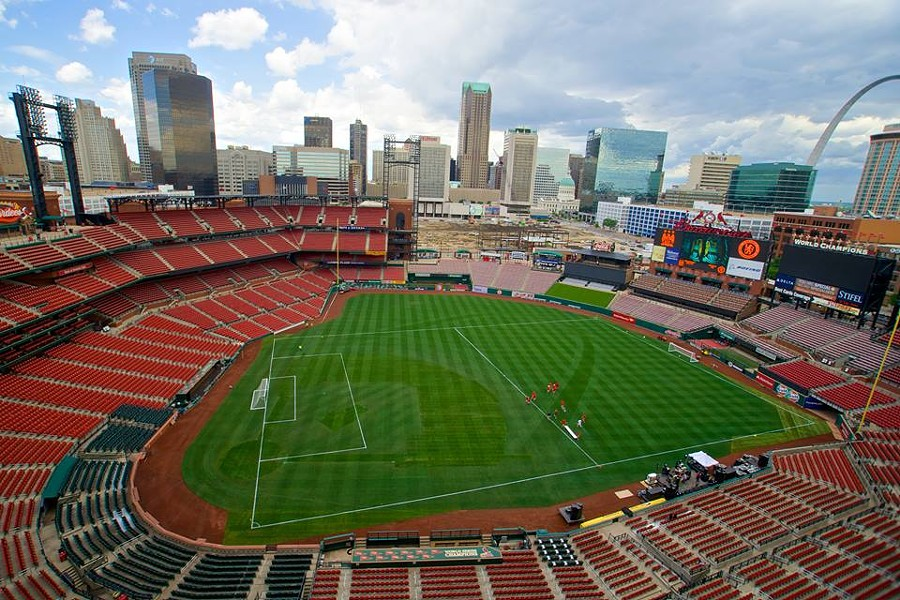 Busch Stadium ready for soccer. - VIA FACEBOOK
