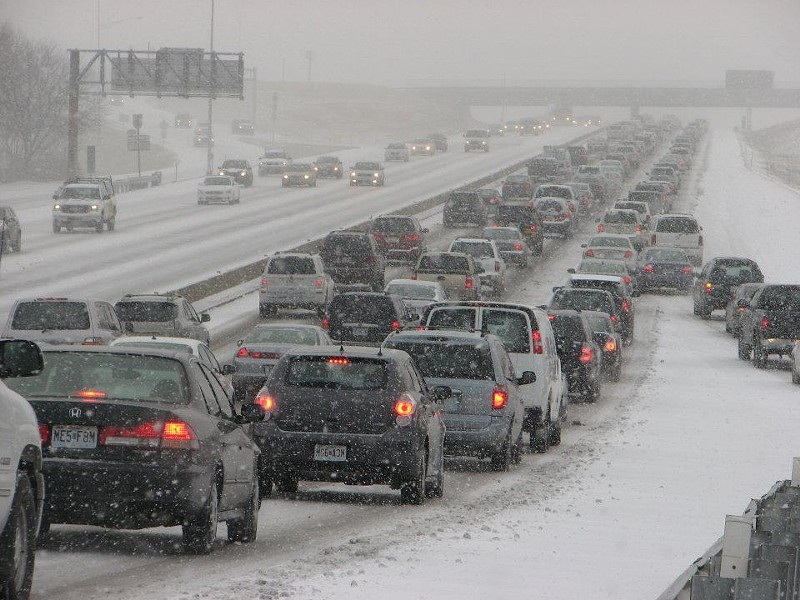 Note to MoDOT: You may not want to post photos like this one on your Facebook page during the next snow dusting. - FACEBOOK.COM/MODOT-ST-LOUIS
