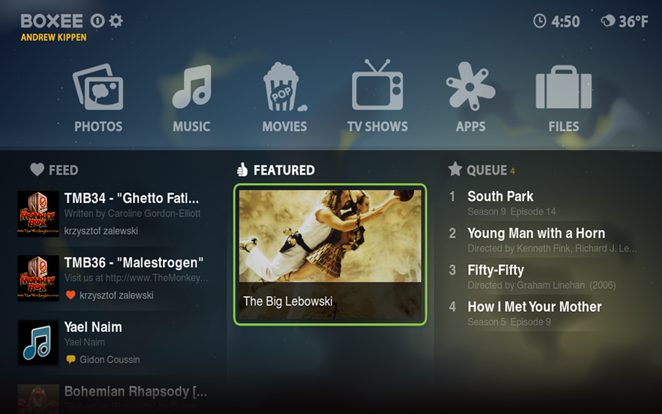 Screenshot of the new Boxee Beta (click for larger view)