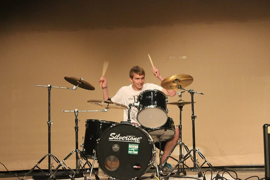 Nick Kapusniak played drums for the Rxtions. - FACEBOOK
