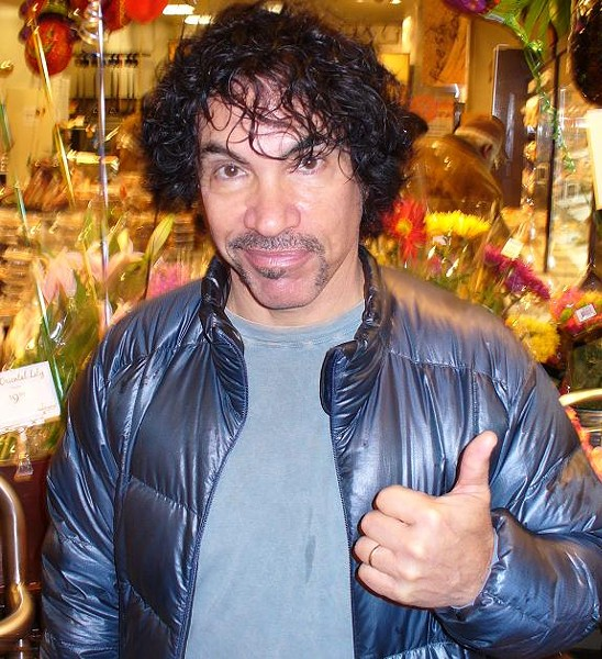 A big thumb's up to Oates' new handlebar mustache. - PHOTO: CHAD GARRISON
