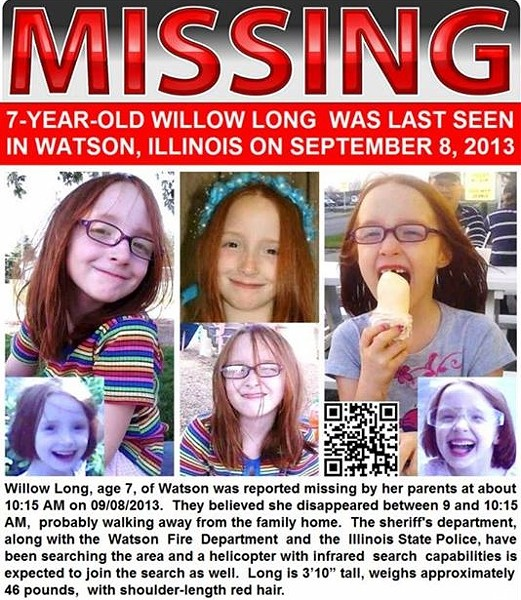 VIA FACEBOOK / MISSING WILLOW LONG