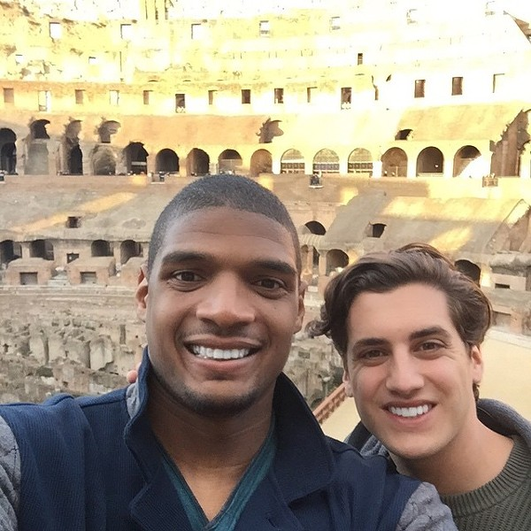 Micahel Sam and Vito Cammisano in Rome, where they apparently decided to get hitched. - INSTAGRAM