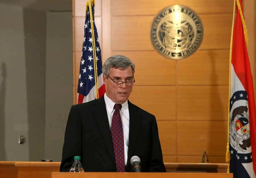 St. Louis County Prosecutor Bob McCulloch releases the grand jury decision on Darren Wilson.