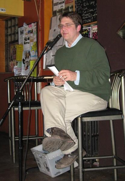 Jeff Hamilton, emcee and Wash U literature professor