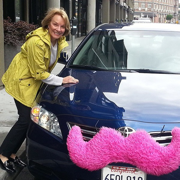 Lyft's famous pink 'stache. - LIZASPERLING ON FLICKR