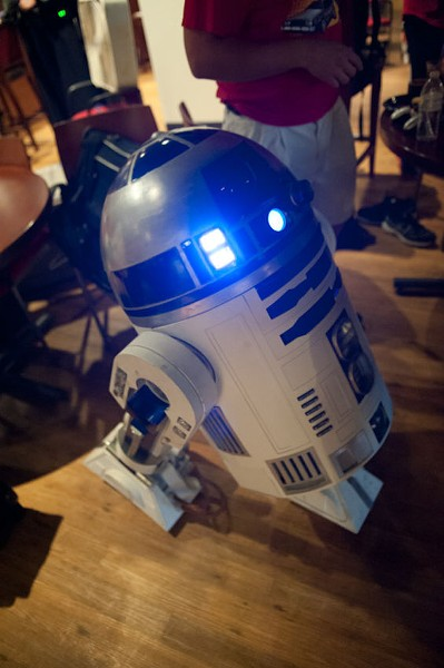 "If C-3PO were here, he'd translate R2D2's beeps into, ""Let's go, Cards!"""