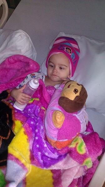 Ariana and her favorite cartoon, Dora the Explorer.