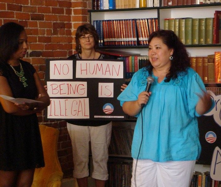 Organizing for Action Missouri at a recent immigration rally. - COURTESY OF SIMS