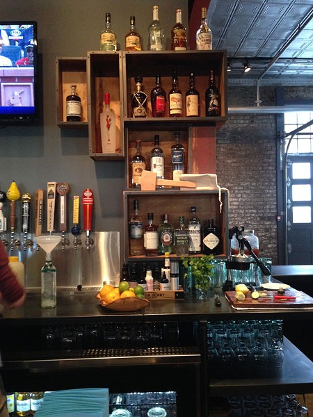 Behind the bar at Mission Soulard. | Nancy Stiles
