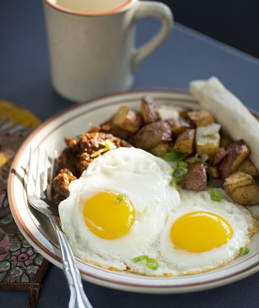 Two eggs with hash browns at Southwest Diner - JENNIFER SILVERBERG