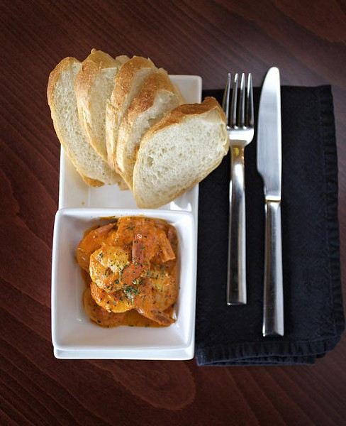The shrimp rouille at Ernesto's Wine Bar is a standout dish. - JENNIFER SILVERBERG
