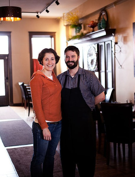 "Jenny Cleveland and Eric Heath, the namesakes of Cleveland-Heath, RFT's ""Best New Restaurant"" 2012 - JENNIFER SILVERBERG"