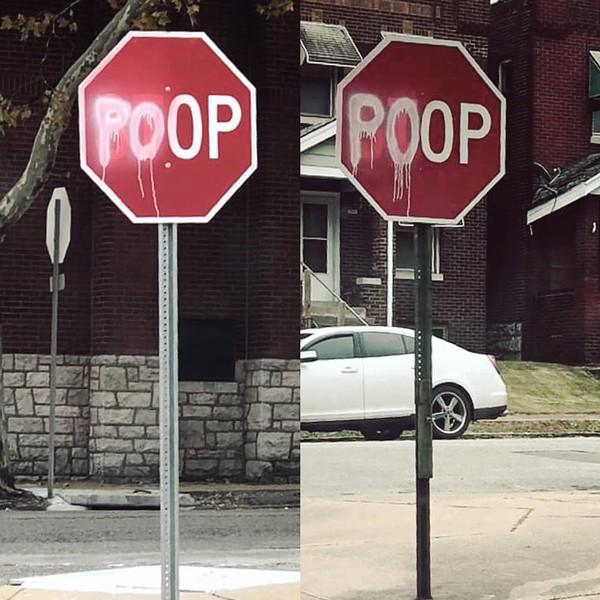 Keokuk Street poop signs - PHOTOS COURTESY OF ANDREW PATANIA
