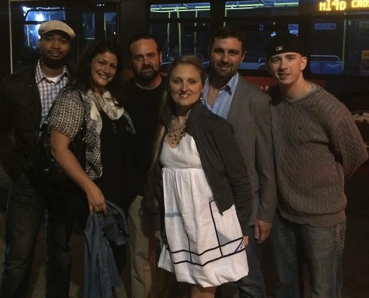 The Libertine crew in NYC(from left Philip Marshall, Audra Luedde, Nick Luedde, Audra Galliano, Josh Poletti). | Courtesy of the Libertine