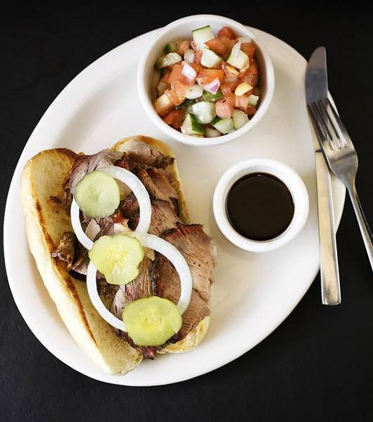 The beef brisket sandwich at Flavors BBQ - JENNIFER SILVERBERG