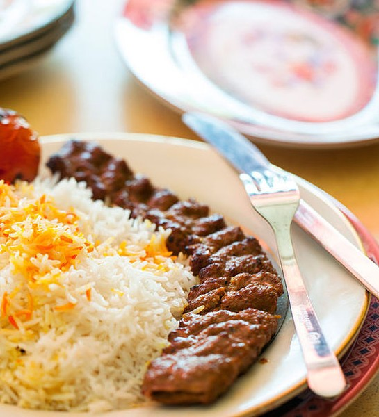 Beef kobeedah with basmati rice - JENNIFER SILVERBERG