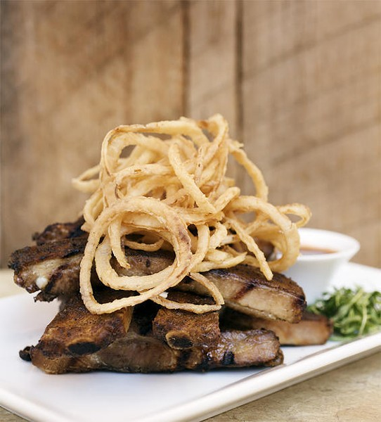The spare ribs at Copia Urban Winery - JENNIFER SILVERBERG