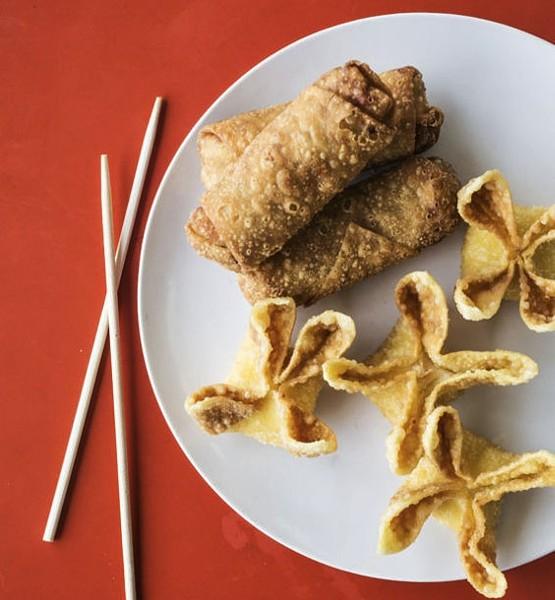 Bek-Hee's handmade egg rolls.   Jennifer Silverberg