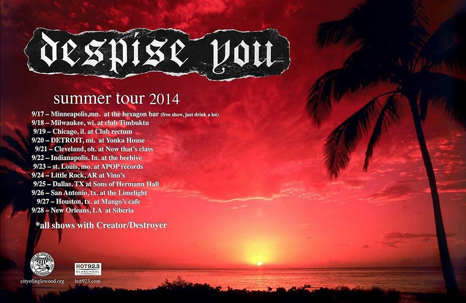 A refreshing, tropical tour postcard from some of America's most pissed off musicans.