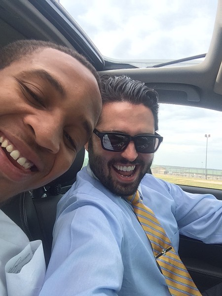 Thomas SanFillippo, one of McKay's lawyers, snapped this selfie after McKay was released from prison.