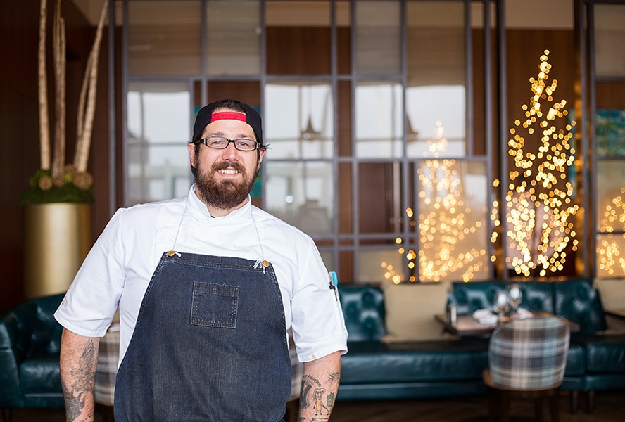 Executive sous chef Michael Fricker oversees the daily operations of Cinder House's kitchen. - MABEL SUEN