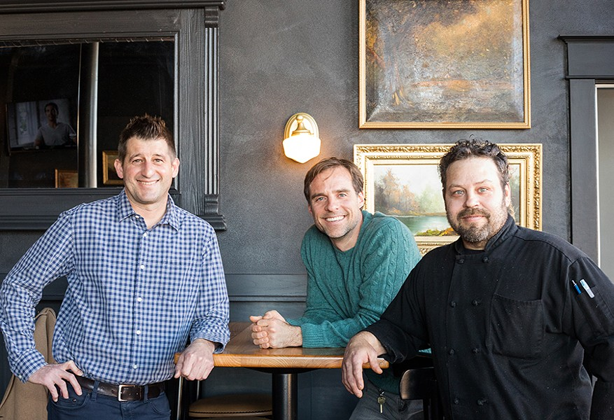 General manager Jon Meinz, owner John Barr and executive chef Tim Montgomery. - MABEL SUEN