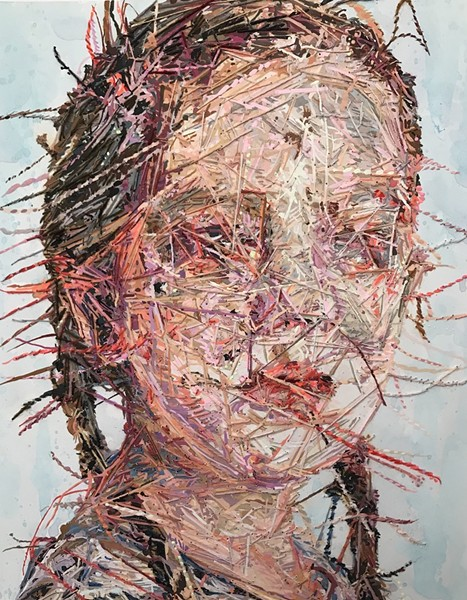 Untitled, by Cayce Zavaglia, is one of may portraits in the Craft Alliance's New Exhibition. - CAYCE ZAVAGLIA