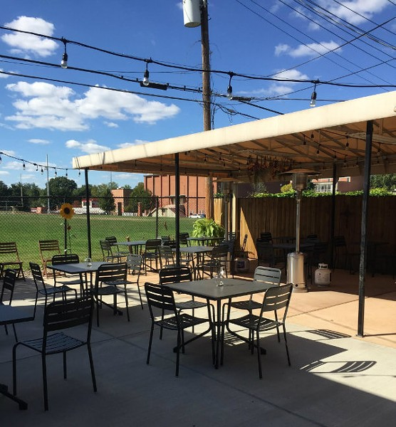 A courtyard at Edible Essentials will seat 30 patrons. - PHOTO COURTESY OF MATT BORCHARDT