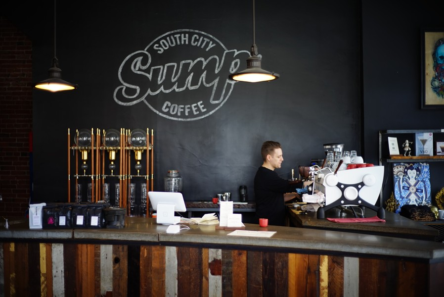 Sump Coffee in South City among first to use latest Square technology. - PHOTO COURTESY OF SUMP COFFEE
