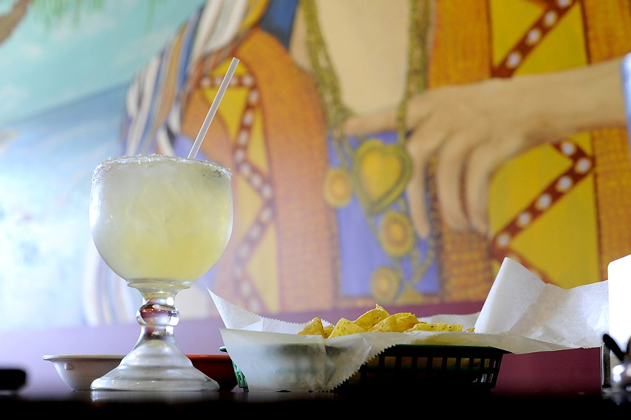 A margarita at Tower Taco - PHOTO BY KELLY GLUECK