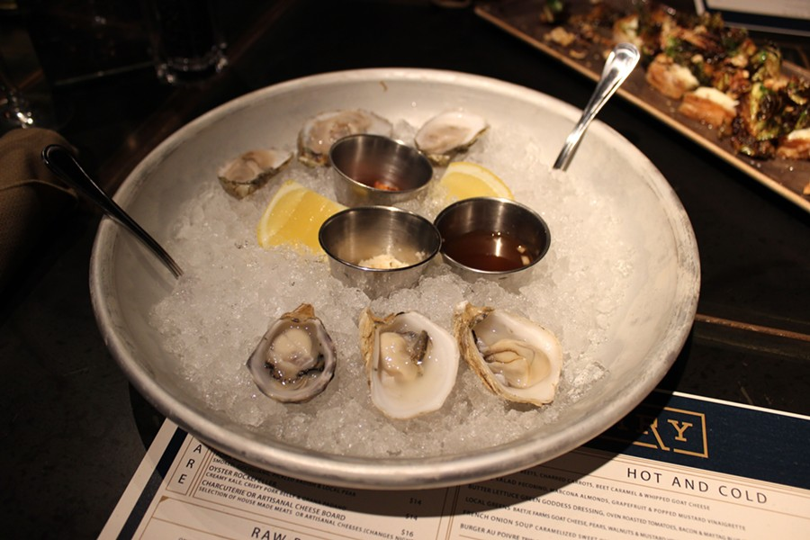Oysters on the half-shell. - PHOTO BY LAUREN MILFORD