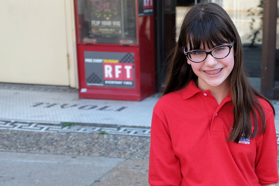 Esther Appelstein, a 5th grader from Kirkwood, is already an accomplished journalist. - PHOTO BY HOLLY RAVAZZOLO