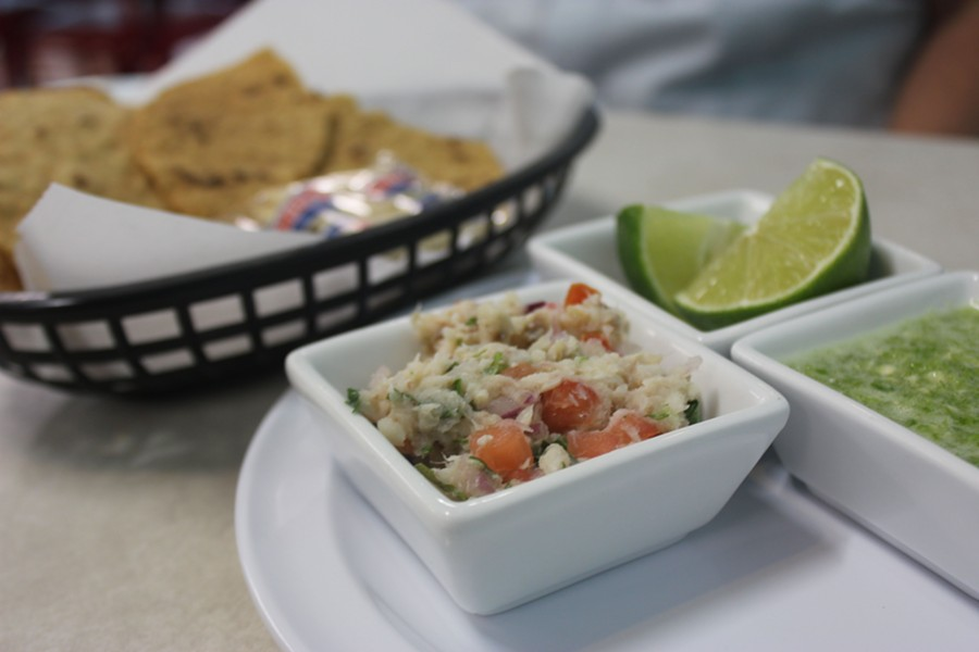 Meals begin with an appetizer of ceviche, on the house. - PHOTO BY SARAH FENSKE