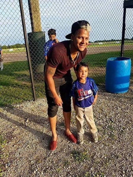"Cardinals pitcher Carlos Martinez with Carlos ""Carlitos"" Posadas. - COURTESY OF OSCAR POSADAS"