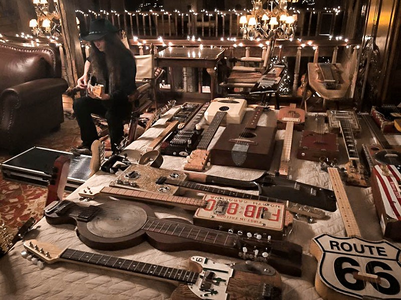 A wide array of materials are used in the DIY guitars.