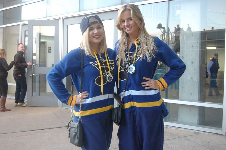 Blues fans everywhere are wearing the official outfit of summer. - HARLAN MCCARTHY