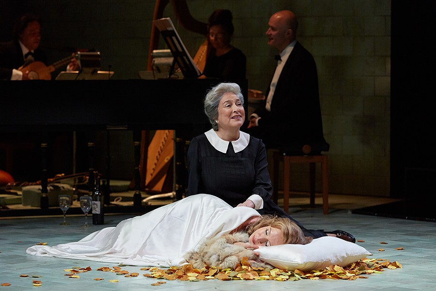 Even Poppea's nurse Arnalta (Patricia Schuman, with Emily Fons) isn't acting from altruism. - ERIC WOOLSEY