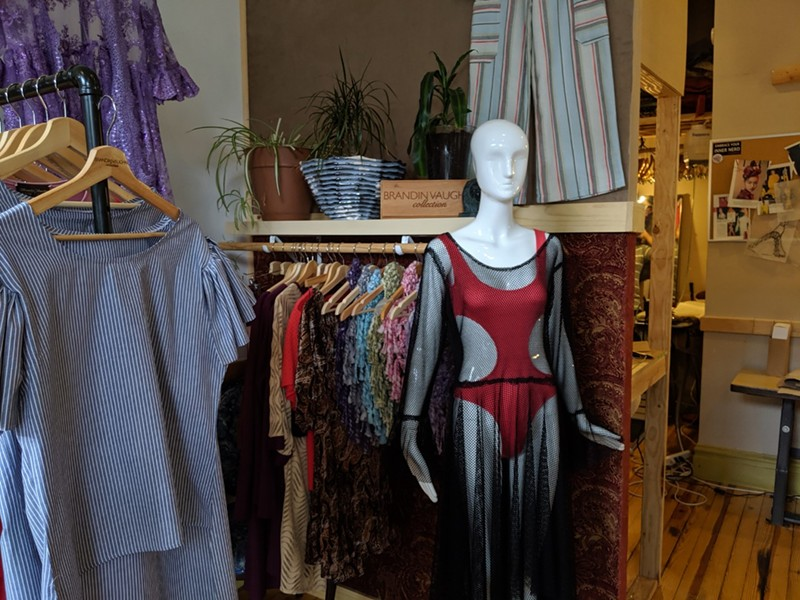 Some of the ready-to-wear clothing Vaughn sells at his shop. - JOSHUA PHELPS