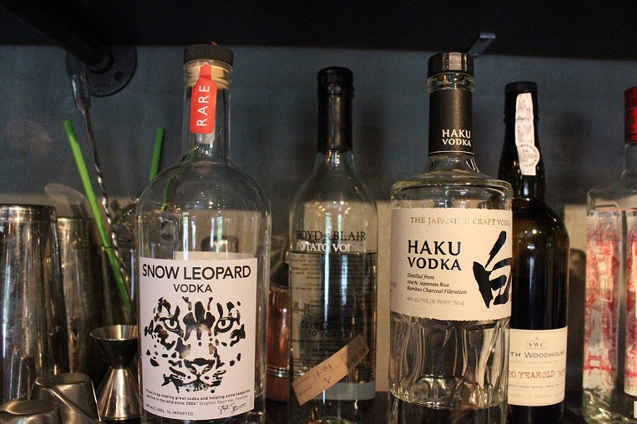Lee says it was important for him to showcase a variety of Asian liquors. - KATIE COUNTS